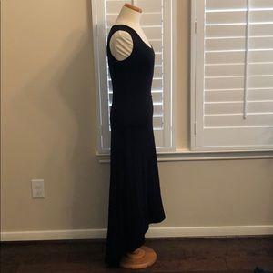 Karen Kane Black Asymmetrical Hem Sleeveless Dress